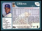 2001 Topps #525  Ugueth Urbina  Back Thumbnail