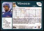 2001 Topps #545  Raul Mondesi  Back Thumbnail