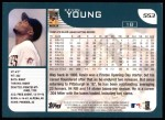 2001 Topps #553  Kevin Young  Back Thumbnail