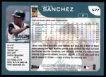 2001 Topps #577  Jesus Sanchez  Back Thumbnail
