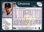 2001 Topps #597  Mike Lansing  Back Thumbnail