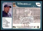 2001 Topps #628  Doug Mirabelli  Back Thumbnail