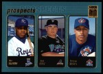2001 Topps #736   -  Dee Brown / Jack Cust / Vernon Wells Prospects Front Thumbnail