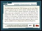 2001 Topps #759   Cincinnati Reds Team Back Thumbnail