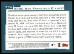 2001 Topps #776   San Francisco Giants Team Back Thumbnail
