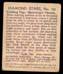 1935 Diamond Stars #101  Dick Bartell   Back Thumbnail