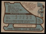 1979 Topps #146  John Tonelli  Back Thumbnail