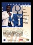 1994 Upper Deck #7  Marshall Faulk  Back Thumbnail