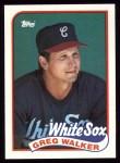 1989 Topps #408  Greg Walker  Front Thumbnail