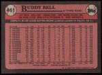 1989 Topps #461  Buddy Bell  Back Thumbnail