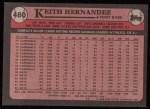 1989 Topps #480  Keith Hernandez  Back Thumbnail