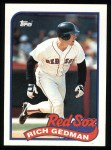 1989 Topps #652  Rich Gedman  Front Thumbnail