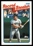1989 Topps #2   -  Wade Boggs Record Breaker Front Thumbnail