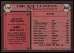 1989 Topps #392   -  Andy Van Slyke All-Star Back Thumbnail