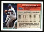 1994 Topps #92  Jose Bautista  Back Thumbnail