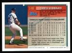 1994 Topps #148  Greg Hibbard  Back Thumbnail