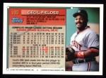 1994 Topps #190  Cecil Fielder  Back Thumbnail