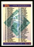 1994 Topps #395   Checklist 1-198 Front Thumbnail