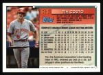1994 Topps #513  Tim Costo  Back Thumbnail