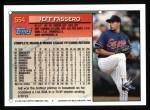 1994 Topps #554  Jeff Fassero  Back Thumbnail