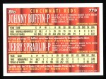1994 Topps #779  Jerry Spradlin /  Johnny Ruffin  Back Thumbnail