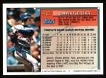 1994 Topps #412  Darrin Fletcher  Back Thumbnail