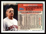 1994 Topps #531  Rob Deer  Back Thumbnail