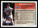 1994 Topps #621  Carl Willis  Back Thumbnail