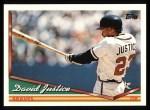 1994 Topps #630  David Justice  Front Thumbnail