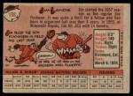 1958 Topps #108 WT Jim Landis  Back Thumbnail