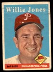 1958 Topps #181  Willie Jones  Front Thumbnail