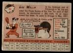 1958 Topps #66  Lee Walls  Back Thumbnail