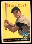 1958 Topps #173  Eddie Yost  Front Thumbnail