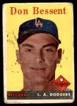 1958 Topps #401  Don Bessent  Front Thumbnail