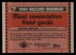 1990 Topps #4   -  Kevin Butler Record Breaker Back Thumbnail