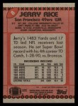 1990 Topps #8  Jerry Rice  Back Thumbnail