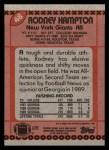 1990 Topps #48  Rodney Hampton  Back Thumbnail