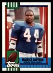 1990 Topps #63  Maurice Carthon  Front Thumbnail