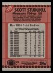 1990 Topps #119  Scott Studwell  Back Thumbnail