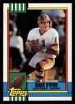 1990 Topps #133  Mark Rypien  Front Thumbnail
