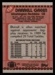 1990 Topps #136  Darrell Green  Back Thumbnail