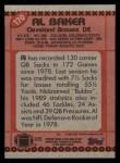 1990 Topps #170  Al 'Bubba' Baker  Back Thumbnail