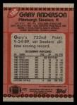 1990 Topps #182  Gary Anderson  Back Thumbnail