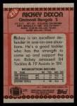 1990 Topps #276  Rickey Dixon  Back Thumbnail