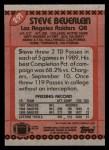 1990 Topps #291  Steve Beuerlein  Back Thumbnail