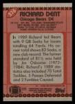 1990 Topps #376  Richard Dent  Back Thumbnail