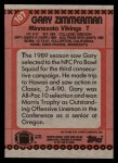 1990 Topps #107  Gary Zimmerman  Back Thumbnail