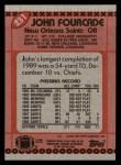 1990 Topps #231  John Fourcade  Back Thumbnail