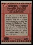 1990 Topps #248  Derrick Thomas  Back Thumbnail