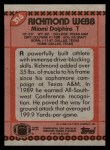 1990 Topps #316  Richmond Webb  Back Thumbnail